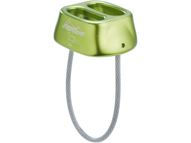 AustriAlpin Tuber Dispositivo Asegurador, lime-green anodised